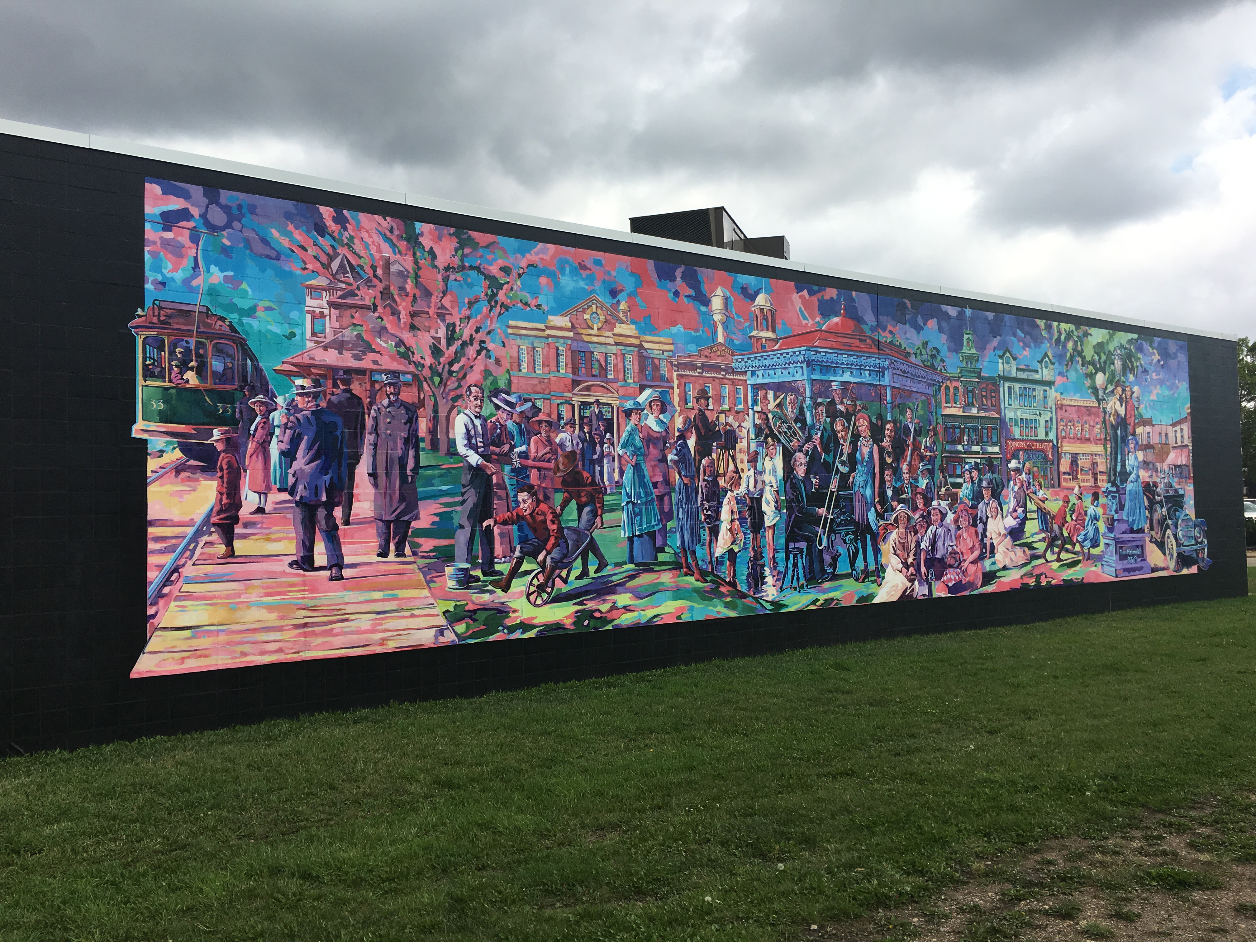 "Road Block - ""Dominion Day Picnic"" Mural by Tim Heimdal"